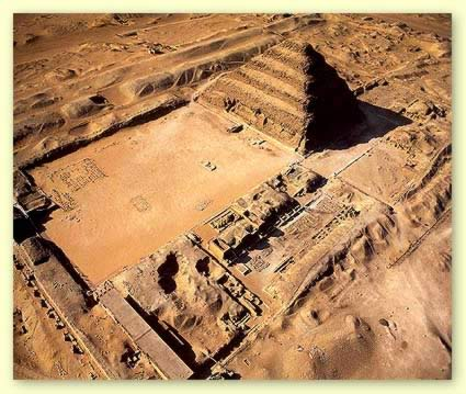 Saqqara, the oldest stone structure.