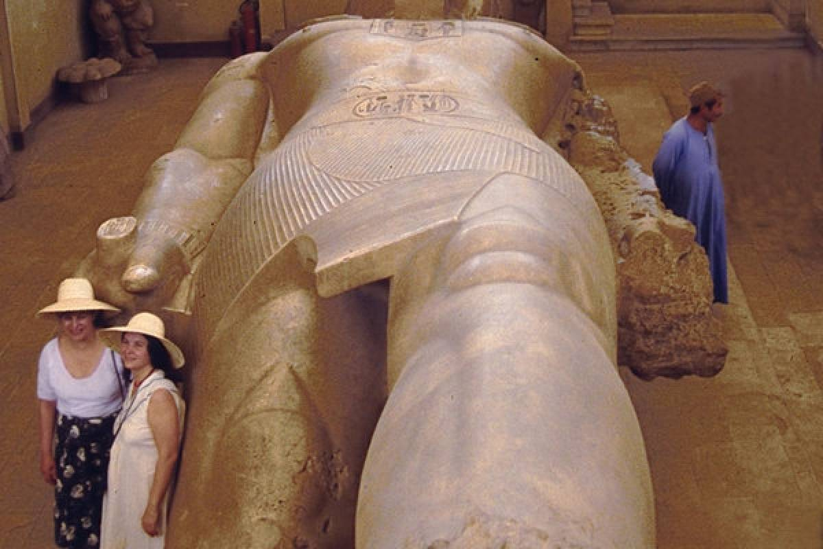 the colossal of Ramsses II at Memphis city .