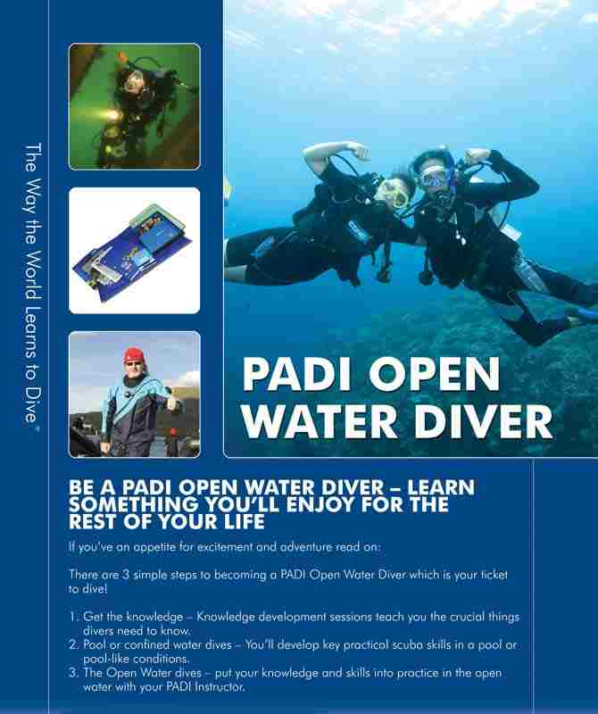 padi open water book